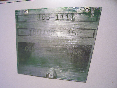 Vintage Oliver 1650 Row Crop Tractor -serial Plate - 1964