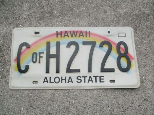Hawaii C of H  license plate   # 2728