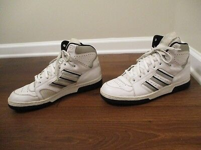 new product 028ab ce74f Used Worn Size 13 Adidas Conductor Hi Shoes White Silver Black