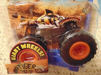 TIGER SHARK 2019 New Hot Wheels Monster Truck with Giant Wheels