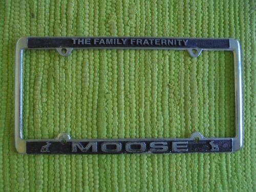 Vintage Family Fraternity MOOSE LICENSE PLATE FRAME Loyal Order of Moose Lodge