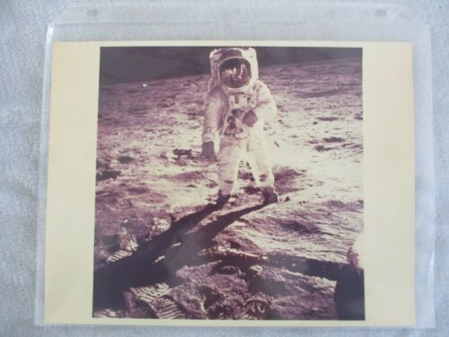 "RARE NASA APOLLO 11 ""ALDRIN ON THE MOON"" MSFC (1ST GENERATION MASTER PHOTO)"