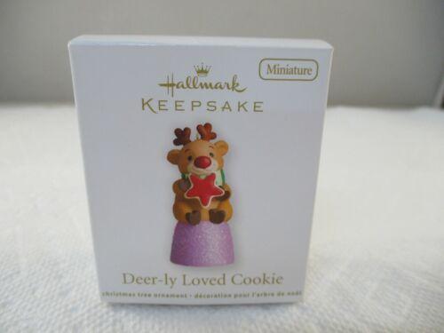 Hallmark Keepsake Deer-ly Loved Cookie 2012 Miniature Ornament Gumdrop Reindeer