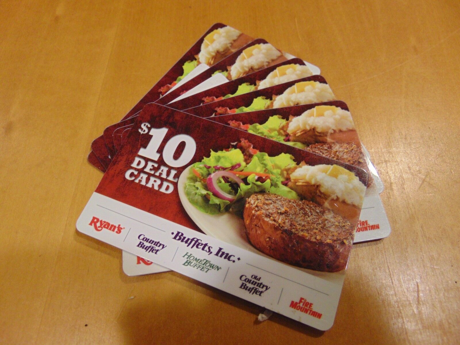 60 Buffets Inc Gift Cards Ryan s Old Country Buffet HomeTown Old Fire Mountain - $50.00