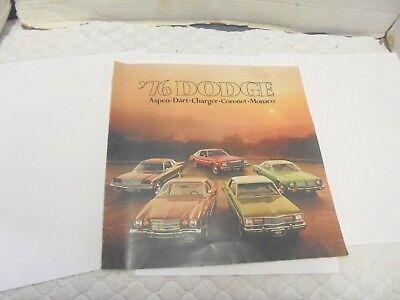 automobile dealership brochure 1976 dodge aspen dart charger coronet monoco