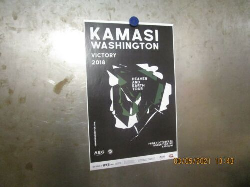 KAMASI WASHINGTON Heaven And Earth Tour w/ VICTORY Ogden Denver 2018 SHOW POSTER