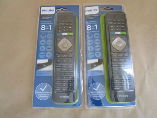 Lot of 2 Philips SRP5018/27 8-IN-1 Universal Remote Controls