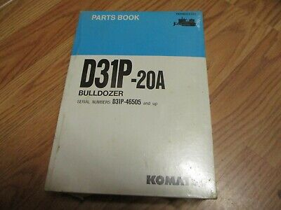 New Komatsu D31P-20A Bulldozer Parts Book Manual