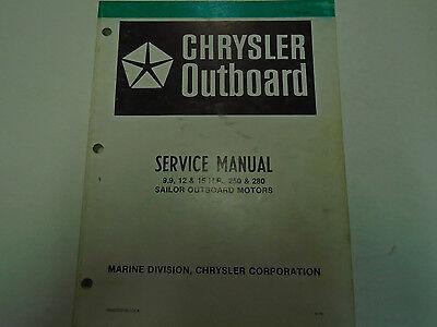 Chrysler Outboard 9.9 12 & 15 HP 250 280 Service Repair Manual OEM Factory Book
