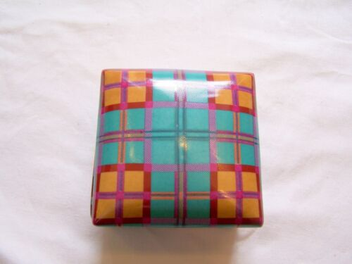 Fabienne Jouvin of Paris blue plaid box