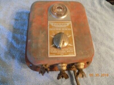 Vintage Parmak 6 Volt Charger Electric Fencer Fence Stocker Model A-df