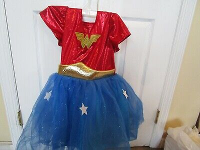 Pottery Barn Kids Halloween Costume Wonder Woman 7 8  New