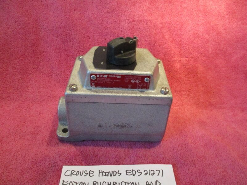 CROUSE HINDS EDS21271 BRAND NEW PUSHBUTTON SELECTOR SWITCH STATION FREE SHIPPING