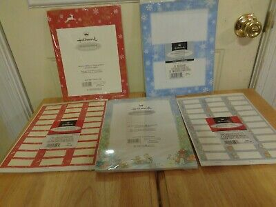 New Lot Hallmark Christmas Winter Laser Ink Jet Printer Paper Envelopes Labels
