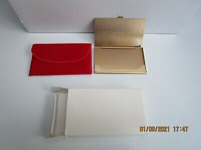 Avon Honor Society Business Card Holder - With Red Bag