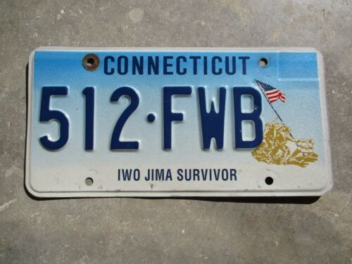 Connecticut Iwo Jima Survivor license plate # 512 - FWB