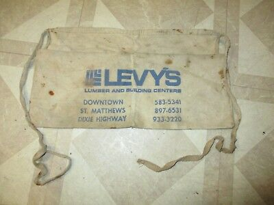 old LEVY'S Lumber and Building Center Hardware Nail Apron LOUISVILLE, KY. for sale  Taylorsville