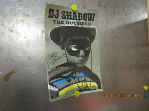 DJ SHADOW Outsider 2-SIDED PROMO POSTER