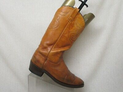 Acme Brown Leather Upper  Cowboy Western Boots Mens Size 10.5 D Style 65885