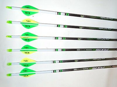 New  6 Easton Axis N Fused 400 Carbon Hunting Arrows  Crested   Blazer Vanes