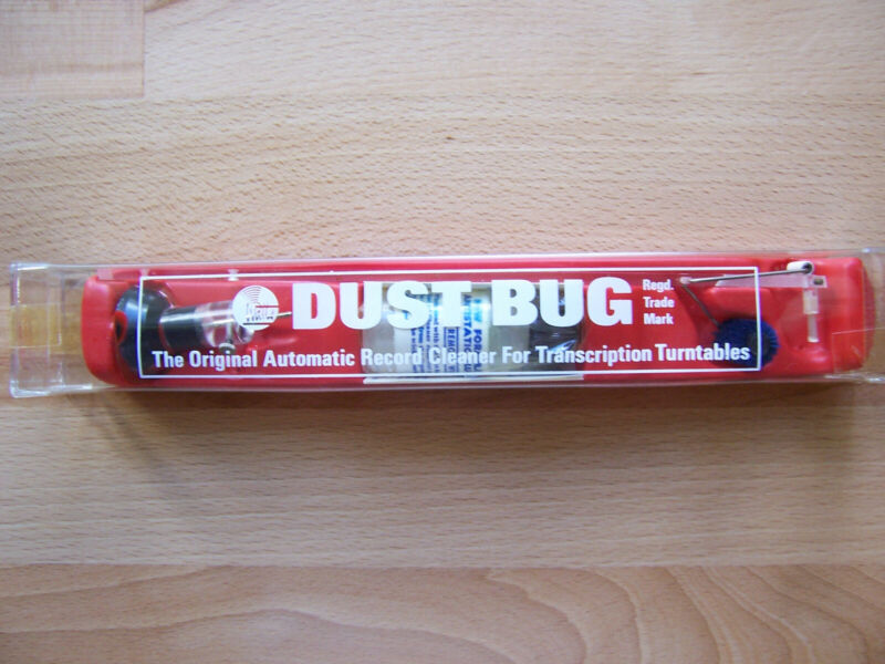 Vintage Watts Original Dust Bug Record Cleaner Turntable Accessory, NIB