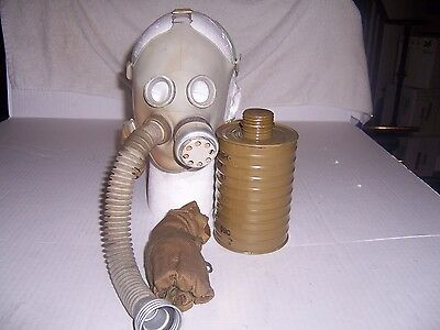 Childs Gas mask Soviet russian Grey rubber Full set. New US seller