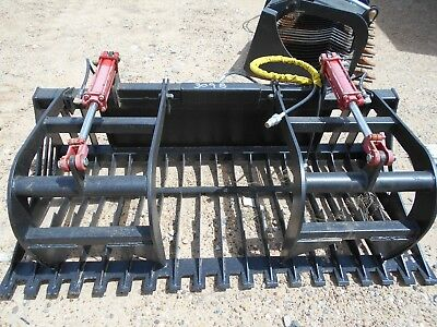 72 Skid Steer Grapple Rake