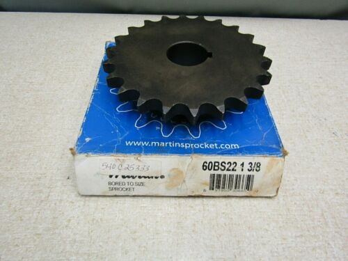 "Martin Sprocket  60BS22 1-3/8  #60  22 Tooth 1-3/8"" Keyed Bore Sprocket"