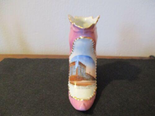 Circa 1915 Souvenir Boot Shoe City Hall Pine Street Grand Island Nebraska #