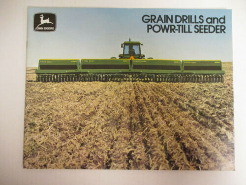 John Deere Grain Drills and Powr-till Seeder Sales Brochure  !