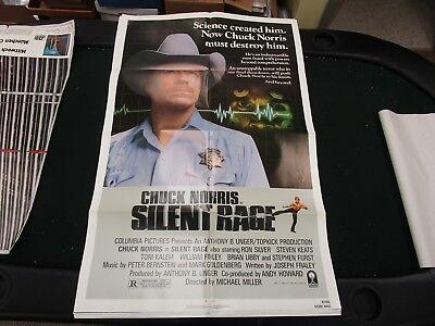 One Veneer Movie Poster Silent Rage 1982 Chuck Norris Ron Silver Steven Keats