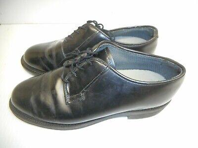 Bates Lace Up Uniform (Bates Uniform Work Shoes Mens Medium Black Leather Lace-Up Oxfords  SIZE)