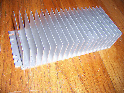 Large Flat-bottom Aluminum Heatsink 9.75 X 4 X 2 38 25 X 10 X 6 Cm