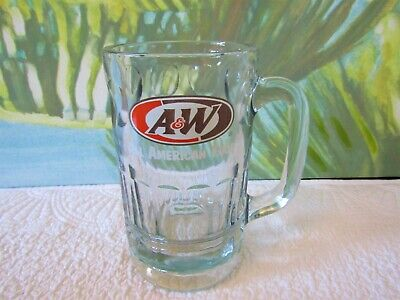 Vintage 90's A&W Root Beer Restaurant Drive In Mug Glass Dog Suds
