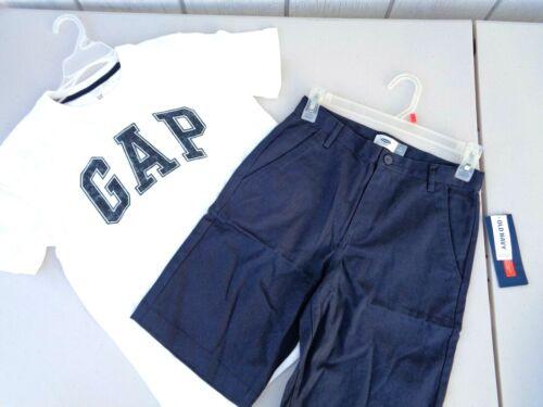 NEW Gap T-shirt Old Navy Shorts SZ XL 12 White Blue Boys Mens Logo Tee