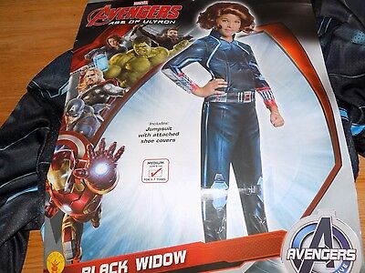 Girl's Size Medium 8-10 Marvel Avengers Black Widow Halloween Costume Jumpsuit - Black Widow Girl Costume