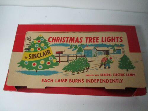 Vintage Kas-Kel 7 Light C-9 Christmas Set in OB - Swirled Glass Interior Paint 1