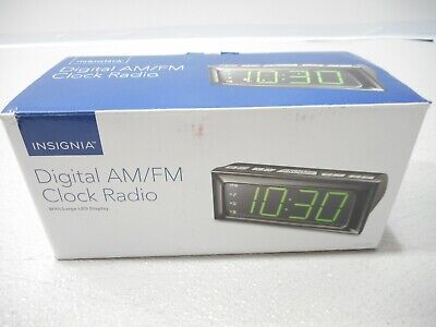 NEW Insignia NS-CLOPP2 Digital AM/FM Digital Alarm Clock Radio - Black