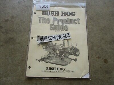 Bush Hog The Product Guide Manual