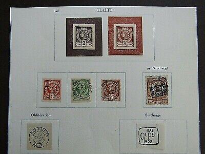 HAITI - EARLIES ON ALBUM PAGE 1881/1904 - ALL FOURNIER FORGERIES