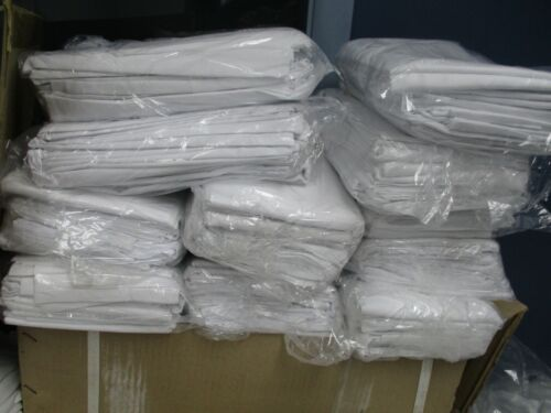 LOT of 25 NEW WHITE HOTEL PILLOW CASES COVERS T-180 STANDARD SIZE BRAND NEW