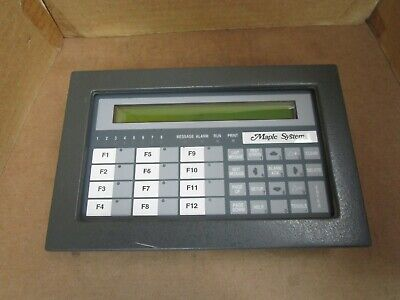 Maple Systems Operator Interface Terminal W. 2x40 Lcd Led Oit3250-a00 30vdc