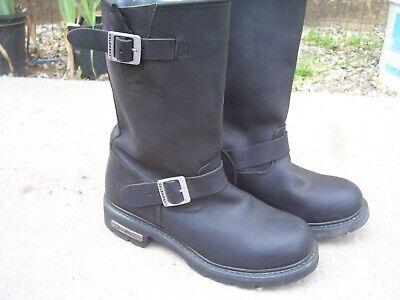 Xelement steal toe boots 10 M black LU1445 Motorcycle Work Mens