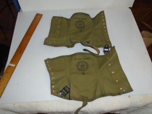 Vintage Official Boy Scout Leggings, Size med, Excellent Condition, FREE Ship