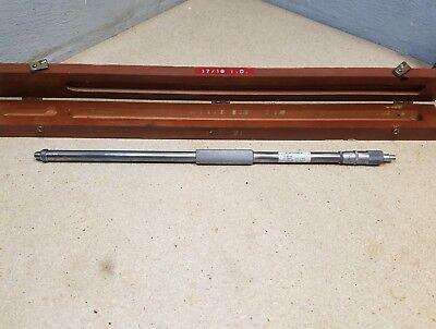 Scherr Tumico Tubular Inside Micrometer 17-18 Woriginal Fitted Case