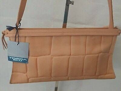 ce99858675 Tosca Blu borsa donna in pelle colore pesca NUOVA usato Croce Grande