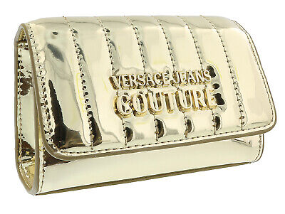 Versace Jeans Couture Gold  Glossy Metallic Shoulder Bag