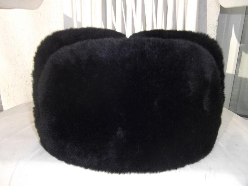 cccp vraie chapka russe uchanka 54 taille enfant mouton cuir fourrure ebay. Black Bedroom Furniture Sets. Home Design Ideas