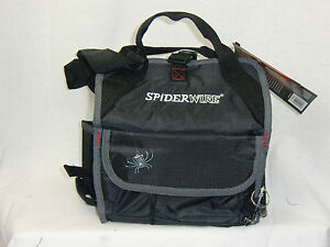 Spiderwire arachnid fishing tackle bag w 3 small utility for Spiderwire fishing backpack