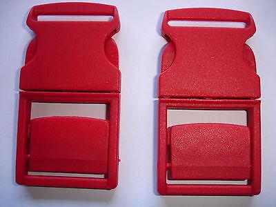 Steckschnallen, Steckschließen rot 42mm breit 80mm lang 4 Stück